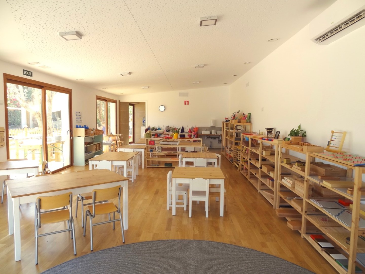 Inside the classroom for 3-6 year olds with lot of light