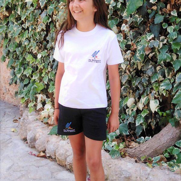 A girl wearing the school uniform
