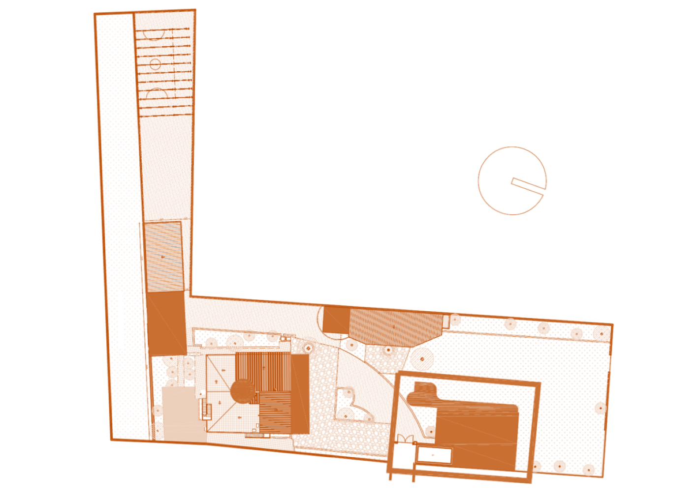 Architect´s drawing of the location of the secondary school building