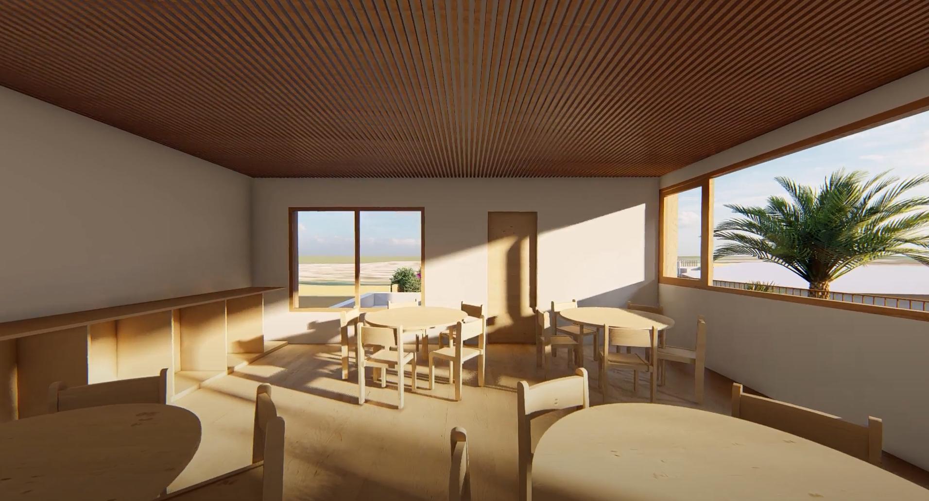 Inside a Secondary classroom on the 1st floor - - international Montessori School of Mallorca